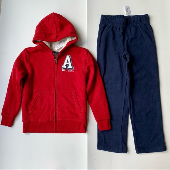 New The Children's Place 7/8 Sherpa Jacket Pants